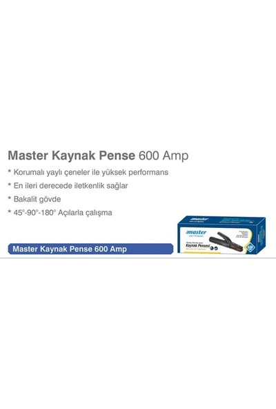 First Master Kaynak Pensesi 600 A