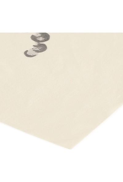 Eno Concept Lila Ortanca Desenli Pamuk Kolay Temizlenebilir Leke Tutmaz Masa Örtüsü 140 x 200 cm