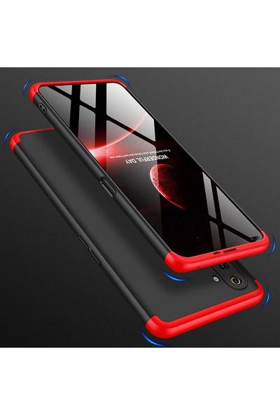 KNY Realme 6 Kılıf 3 Parça 360 Zore Ays Kapak + Cam Ekran Koruyucu Siyah