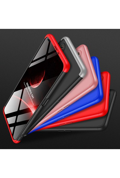 KNY Realme 6 Kılıf 3 Parça 360 Zore Ays Kapak + Nano Cam Ekran Koruyucu Siyah