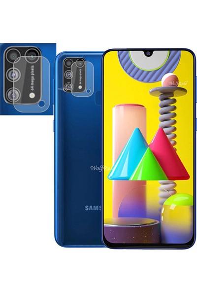 KNY Samsung Galaxy M31 Kamera Koruma Cam Ekran Koruyucu Şeffaf