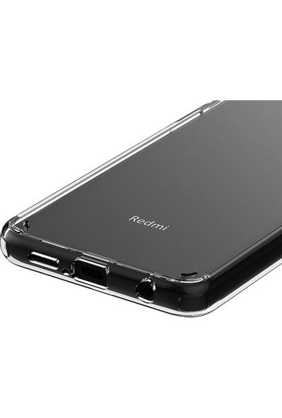 Vendas Xiaomi Redmi Note 9 Pro Air Craft Serisi Sert Silikon Kılıf Şeffaf