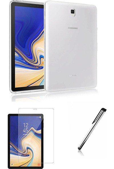 "Esepetim Samsung Galaxy Tab S4 SM-T830 Silikon Tablet Kılıf Seti (10.5"") Ekran Koruyucu ve Tablet Kalemi"