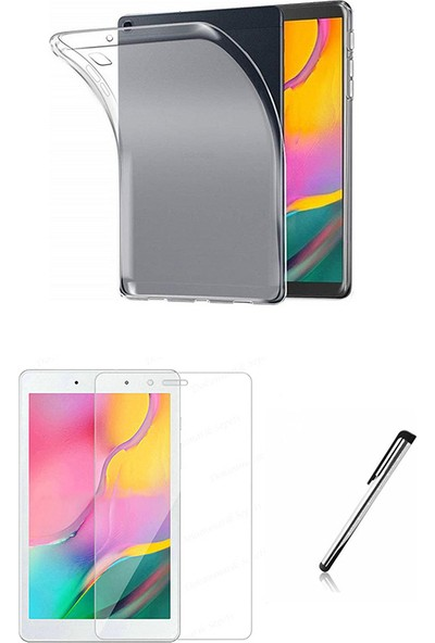 "Esepetim Samsung Galaxy Tab A SM-T290 Silikon Şeffaf Tablet Kılıf Seti (8"") Ekran Koruyucu ve Tablet Kalemi"