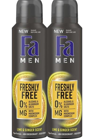 Fa Freshly Free Misket Limonu Zencefil Deo Sprey 150 ml x 2 Adet