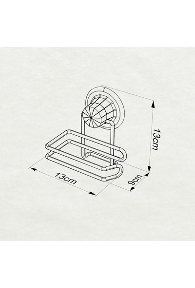 Tekno-tel Vakumlu Tuvalet Kağıtlık Mat Siyah DM271