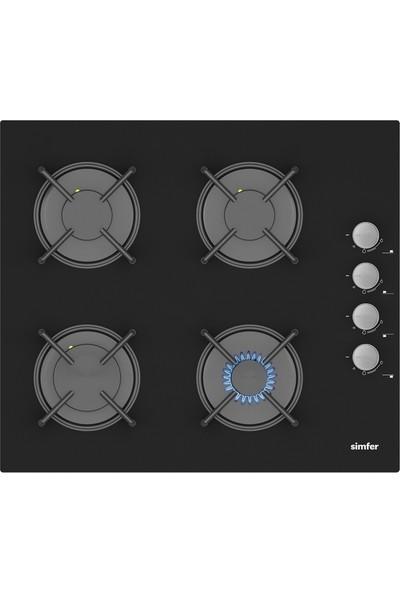 Simfer Ekonomik Siyah Cam Ankastre Set (7336 Fırın + 3500 Ocak + 9603 Davlumbaz)