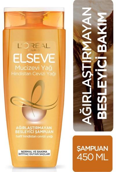 L'Oréal Paris Elseve Mucizevi Hindistan Yağı Ağırlaştırmayan Besleyici Şampuan 450 ml