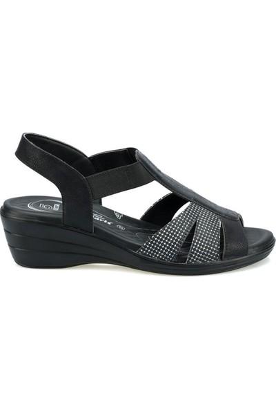 Polaris 103062 Siyah Kadın Sandalet