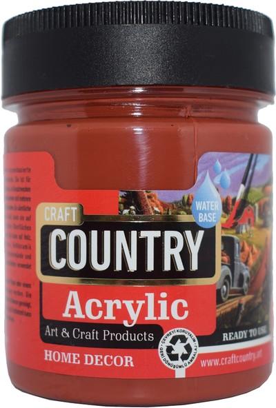 Craft Country Akrilik Hobi Boyası 120 Cc 152 Oksit Kiremit
