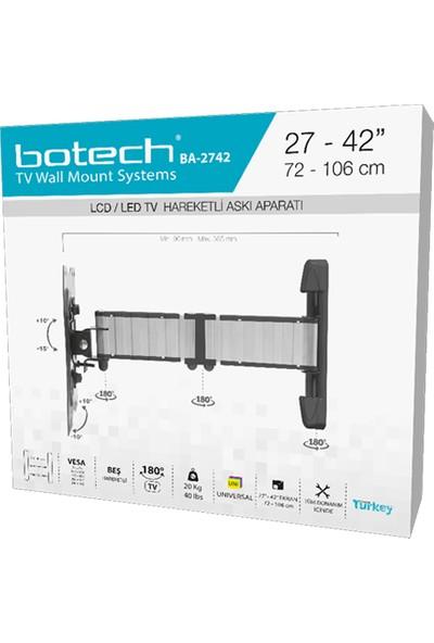 """Botech Tv Hareketli Askı Aparatı 27""""-42"""" 72-106CM"""