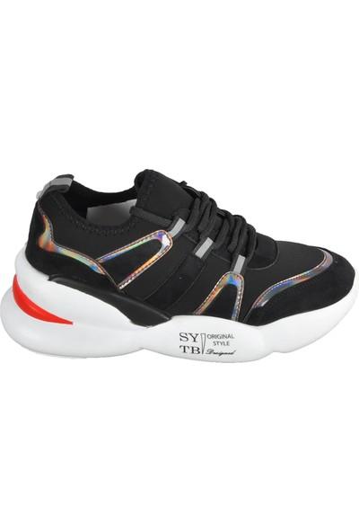 Walkway E-23 Siyah Spor Ayakkabı