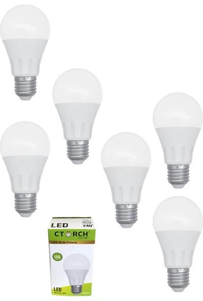 Ctorch Led Ampul 10W Beyaz Işık E27 6500K 6'Lı Set