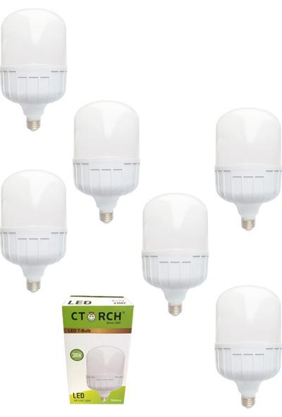 Ctorch Led Ampul 38W Beyaz Işık E27 6500K 6'Lı Set