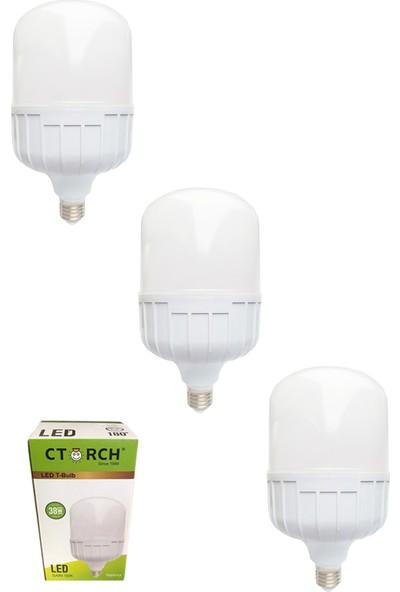Ctorch Led Ampul 38W Sarı Işık E27 3000K 3'Lü Set