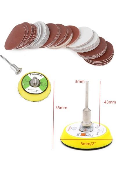 Depolife Dremel Proxxon Lotus Swazer Banco Mac Allister Hobi Makinesi İçin 5Cm Cırt Taban Zımpara Seti 60 Adetli