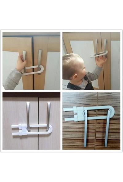 Elybaby Çekmece Kapı Çocuk Bebek Güvenlik Kilidi Raylı Dolap Plastik Kilit