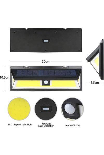 Mighty Solar Bahçe Lambası 180 Ledli Sensörlü Solar Lamba Güneş Enerjili Bahçe Aydınlatma 4 Lü Paket