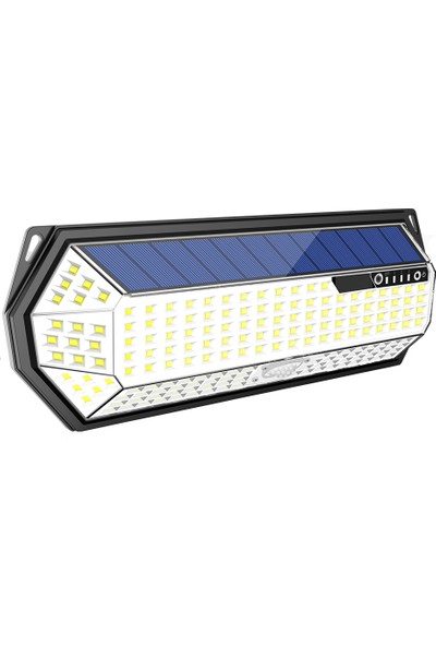 Mighty Solar Bahçe Lambası 198 Ledli Sensörlü Solar Lamba Güneş Enerjili Bahçe Aydınlatma