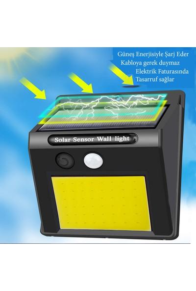 Mighty Solar Bahçe Lambası 48 Ledli Sensörlü Solar Lamba Güneş Enerjili Bahçe Aydınlatma