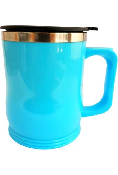 Lavin Açık Mavi Düz Termos Kupa Bardak 450 ml