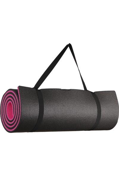 Lenatech 10 mm Pembe-Siyah Pilates Antreman ve Yoga Matı