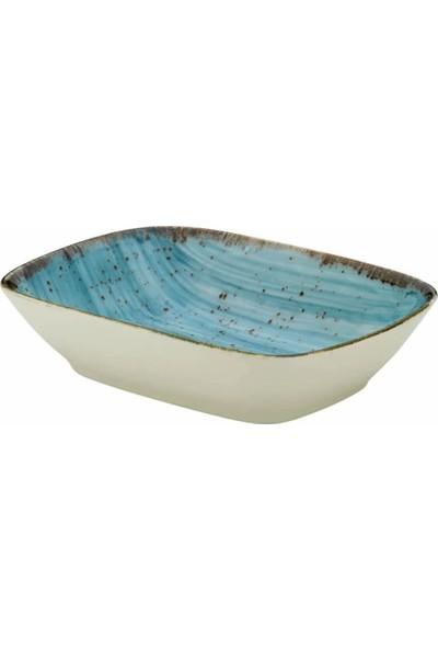 Kütahya Porselen Atlantis Mavi 6 Adet 14 x 14 cm Çerezlik