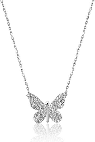 Şimal Gümüş Kelebek Kolye