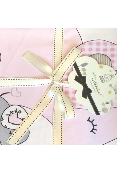 İgi Pikeli Bebek Nevresim Takımı Happy Pembe