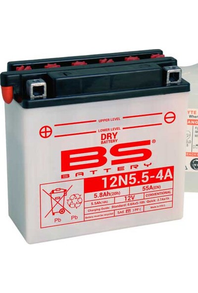 Bs 12N5.5-4A (Dry) Motorsiklet Aküsü