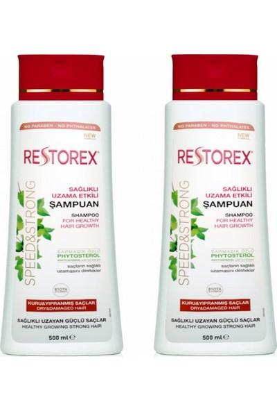 Restorex Kuru ve Yıpranmış Saçlar Için Etkili Şampuan 500 ml + 500 ml