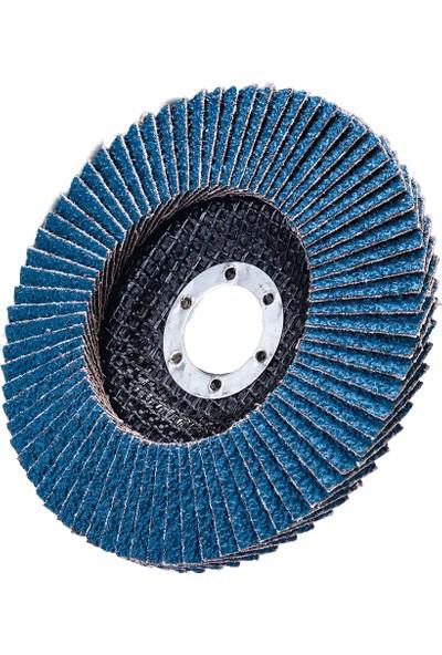 Üçer Zımpara Zirkonyum Flap Disk (STD) Düz T27 - 115 x 22 - 40 Kum