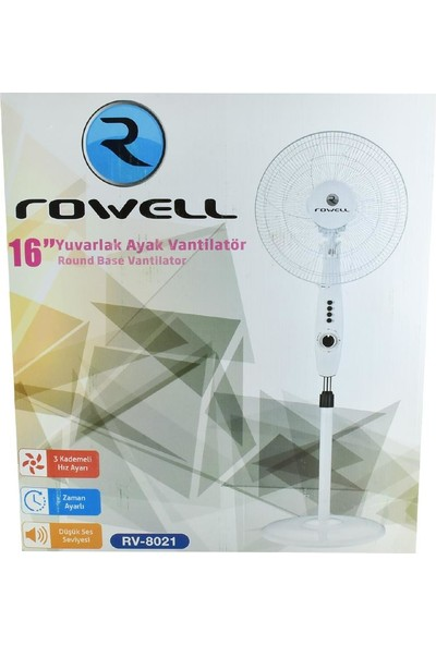 Rowell RV-8021 16'' Ayaklı Vantilatör
