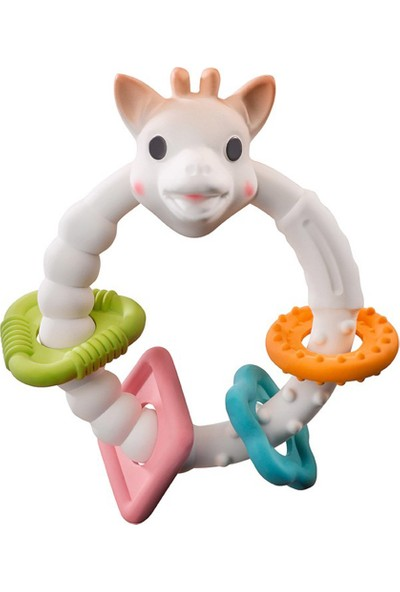 Sophie La Girafe So Pure Renkli Halka Diş Kaşıyıcı