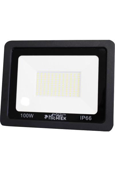 Hightek Slim Kasa 100W Projektör Siyah Kasa Beyaz Işık