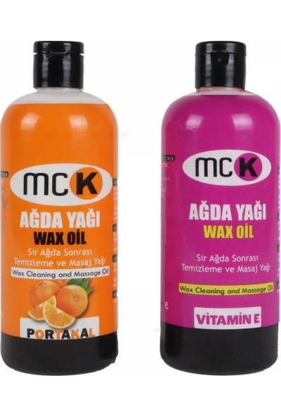Mck Wax Oil Portakal ve Vitamin E Ağda Yağı 400 ml