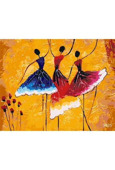 Plus Hobby SB25 İspanyol Dansı Sayılarla Boyama Seti 40 x 50 cm
