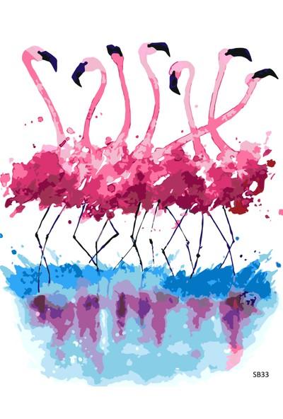 Plus Hobby SB33 Flamingo Sayılarla Boyama Seti 40 x 50 cm