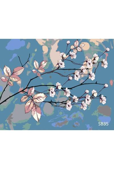 Plus Hobby SB35 Badem Çiçekleri Sayılarla Boyama Seti 40 x 50 cm
