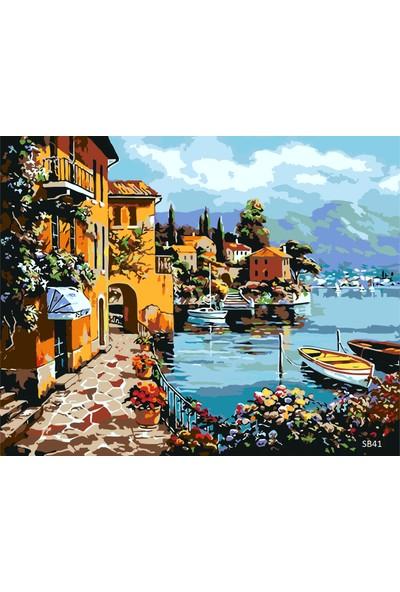 Plus Hobby SB41 Akdeniz Manzarası Sayılarla Boyama Seti 40 x 50 cm