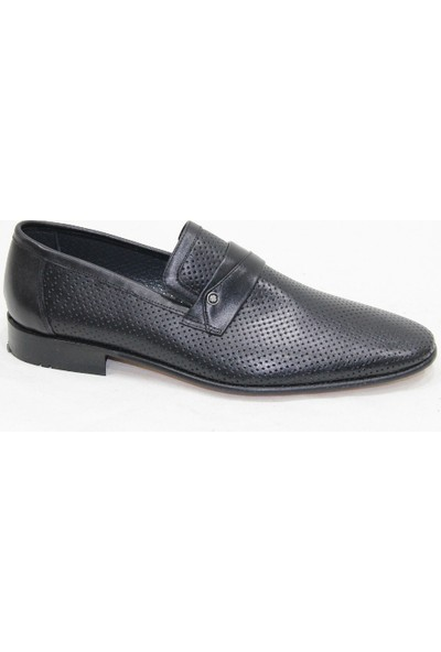 Özpolat Siyah Kösele Cilt Deri Ayakkabı