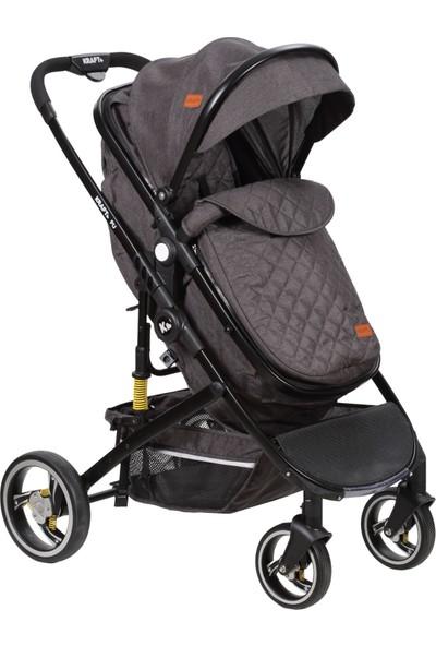 Kraft Pu Travel Sistem Bebek Arabası - Koyu Gri