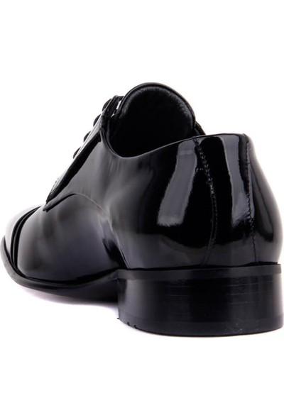 Fosco Bağcıklı Siyah Rugan Erkek Klasik Ayakkabı 1001-1 430