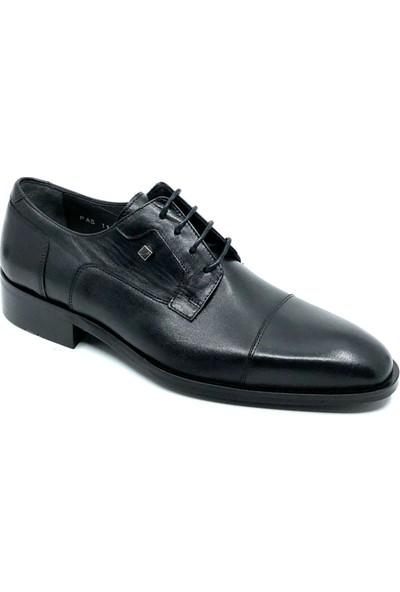 Fosco Siyah Deri Klasik Erkek Ayakkabı 1107 114