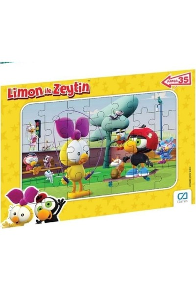 Ca Games Limon ile Zeytin 35 Parça Frame Puzzle S2
