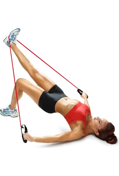 Tristar Tutacaklı Orta Sert Pilates Egzersiz Direnç Plates Lastiği