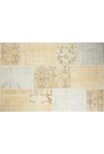 Grand Hedef Halı Bej Renk Patchwork El Dokuma HALISI-120 x 180 cm