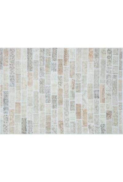 Grand Hedef Halı Bej Renk Tonları Patchwork El Dokuma Halı 170 x 240 cm