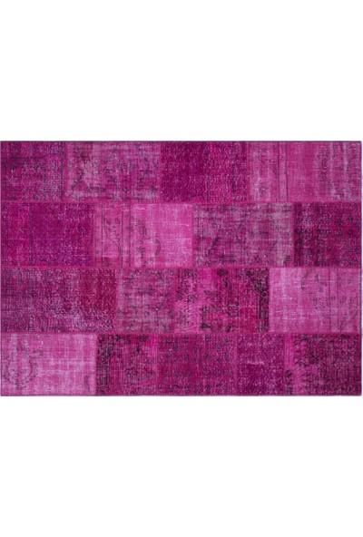Grand Hedef Halı Fuşya Renk Patchwork El Dokuma Halı 170 x 240 cm