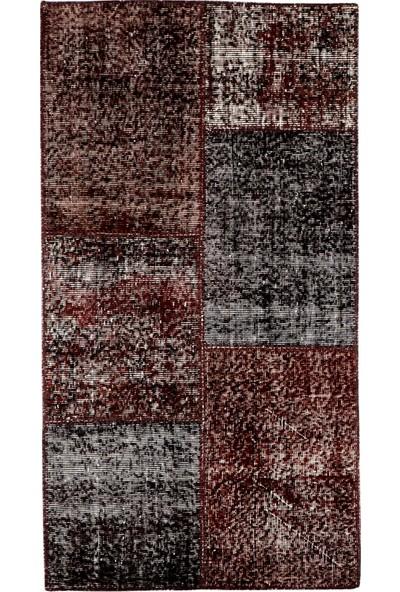 Grand Hedef Halı Kahve Renk Patchwork El Dokuma Halısı 80 x 150 cm